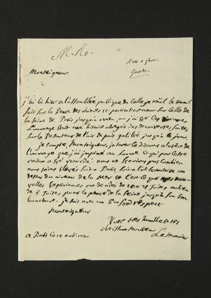 Pierre-Charles LE MONNIER (1715-1799) astronome....