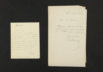 MUSIQUE. 11 L.A.S. et 2 manuscrits musicaux...