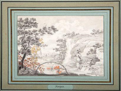 Hendrick HOOGERS (1747-1814)  Avril et Septembre...