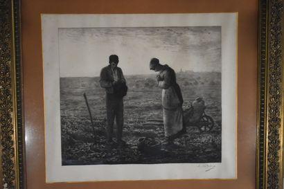 D'après Jean-François Millet (1814-1875) et gravé par Charles Albert Waltner (1846-1925)...