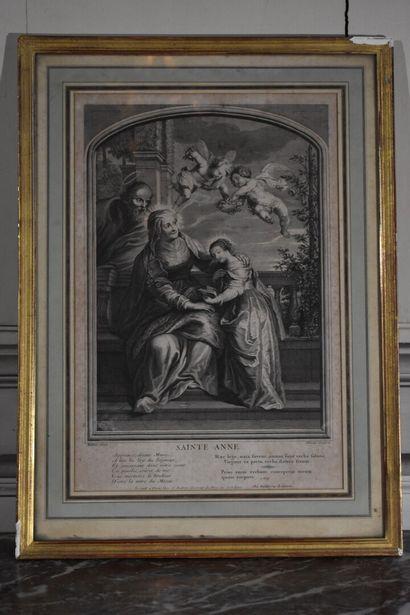 D'après Peter Paul RUBENS (1577-1640)  Sainte...