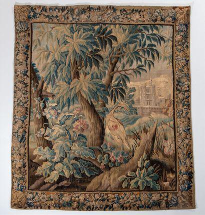 AUBUSSON, XVIIIe siècle  TAPISSERIE en fil...