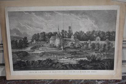 Nicolas Henri TARDIEU (1674-1749)  Veue de...