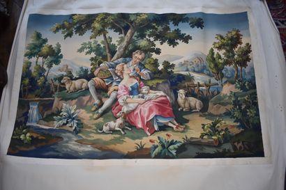 Carton de tapisserie, XIXe siècle  A décor...