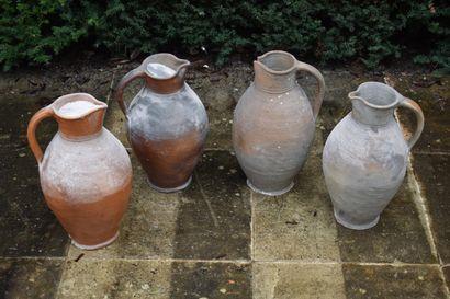 Lot de quatre potiches, XIXe siècle  Acc...