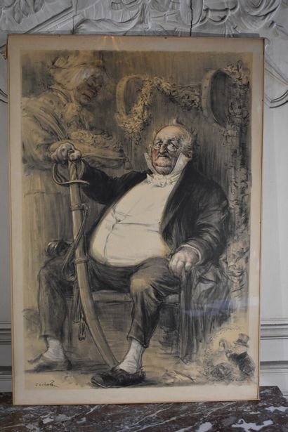 Charles LÉANDRE (1862-1934)  Fête Henry Monnier,...