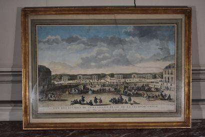 Jacques RIGAUD (c.1671/91-1754)  Vue des Ecuries de Versailles prise de la seconde...