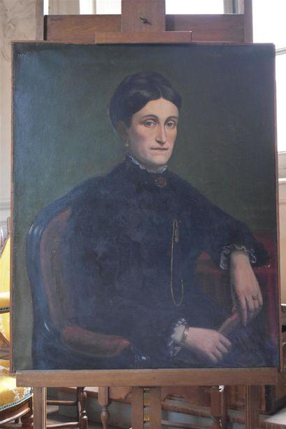 L. BONNAL (XIXe siècle)  Portrait de femme...