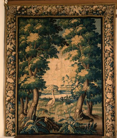 AUBUSSON, début du XVIIIe siècle  Verdure...