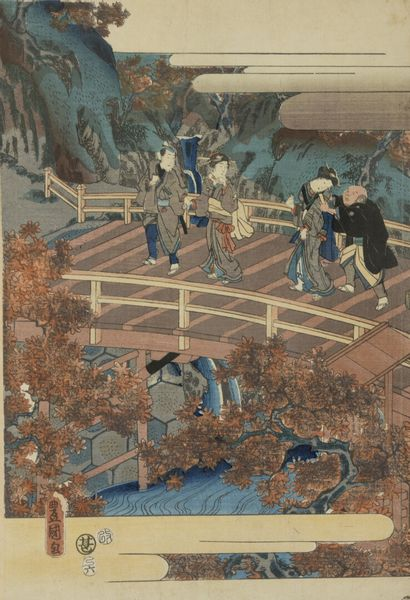 Deux peintures sur papier de riz encadrées  Chine, Canton, début du XXe siècle  Représentant...