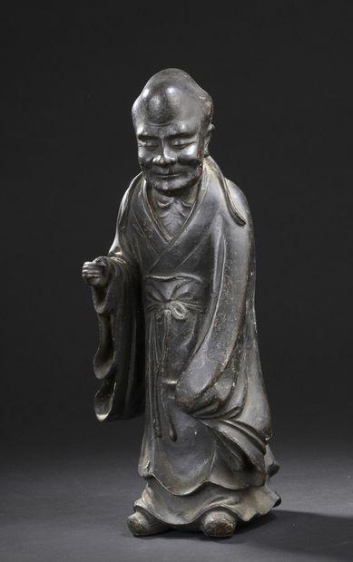 Statue de Luohan en bronze  Chine, fin du...