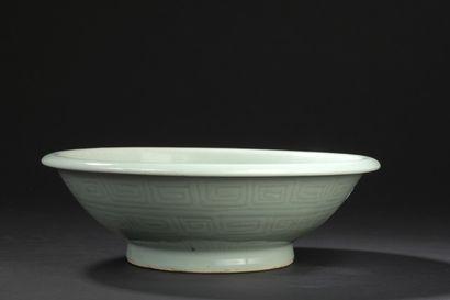 Coupe en porcelaine céladon  Chine, XIXe...