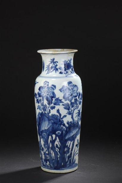 Vase en porcelaine bleu blanc  Chine, XIXe...