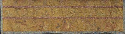 Tenture en soie jaune brodée Chine, fin du XIXe-début du XXe siècle  Rectangulaire,...