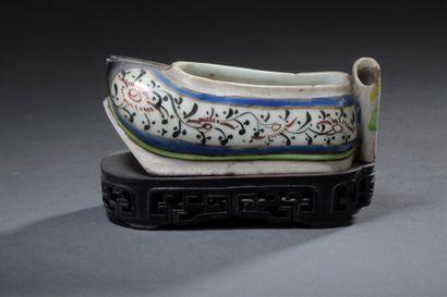 CHINE, XVIIIe siècle  Lave-pinceau en forme...