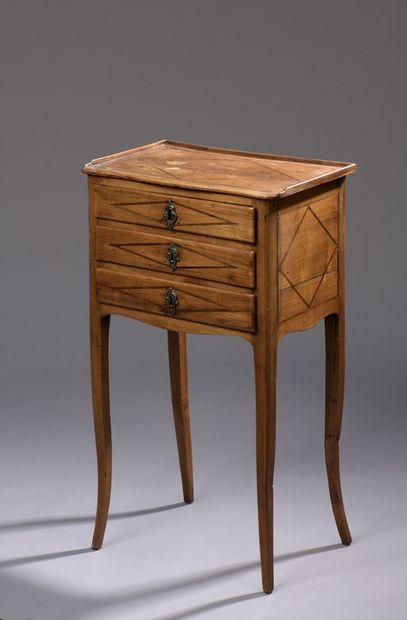 Table de salon en bois naturel et amarante...
