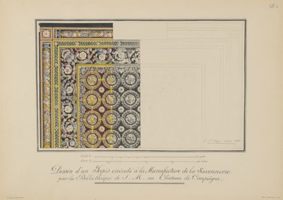 D'après SAINT-ANGE  Dessins préparatoires pour tapis et tapisseries de la Savonnerie...