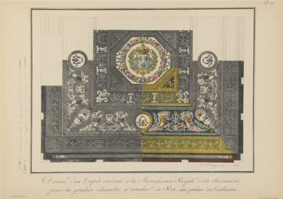 According to SAINT-ANGE  Preparatory drawings for carpets and tapestries of the...