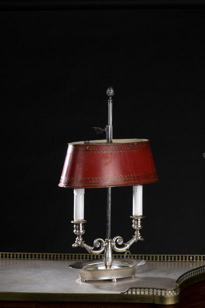 Lampe bouillote en métal plaqué, de style...