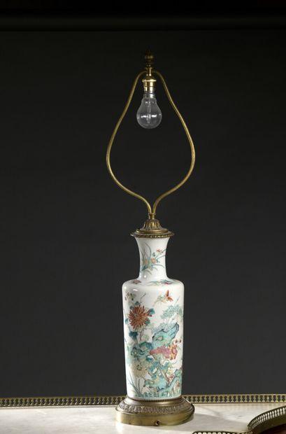 Potiche à décor floral, Chine, XIXe siècle...