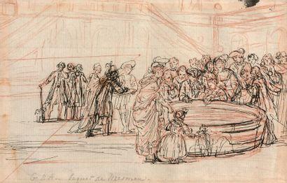 École FRANÇAISE du XVIIIe siècle  Le baquet...
