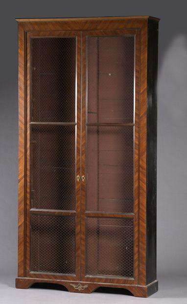 Bibliothèque en placage de bois de satiné...