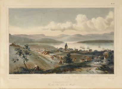 Vues de Hobart-Town (Tasmanie)  Deux lithographies...