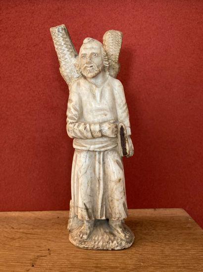 Saint André  Statuette en albâtre, XIXe siècle....