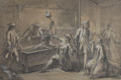 École FRANÇAISE du XVIIIe siècle, entourage...