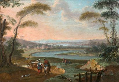 Attribué à Sébastien Jacques LECLERC dit LECLERC des GOBELINS (Paris 1734-1785)...