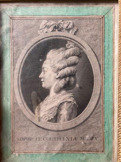 École FRANÇAISE, XVIIIe siècle  Portrait...