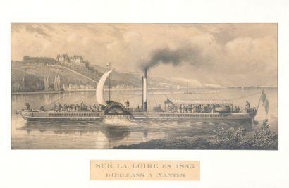D'après Charles PENSÉE  Sur la Loire en 1843,...