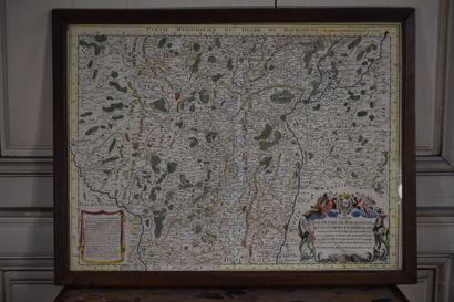 Guillaume DELISLE (1675-1726)  Carte du Duché de Bourgogne et des Comtez en dependans,...