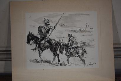 José Luis REY VILA (1910-1983)  Don Quichotte...