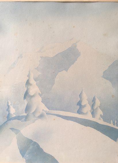 SAMIVEL MONTAGNE  10 estampes en couleurs et un portfolio