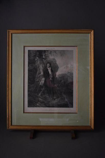 D'après Charles MOTTE (1785-1836)  S.A.R. Mgr Le Duc d'Orléans et S.A.R. Mademoiselle...