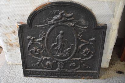 Plaque de cheminée en fonte de fer, XXe siècle...