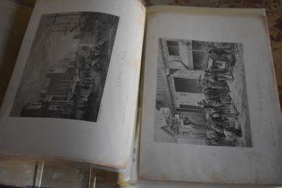 Lot comprenant plus de cinquante lithographies,...