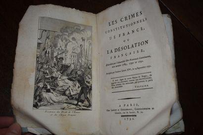 Les crimes constitutionnels de France, ou la désolation française, décrétée par...