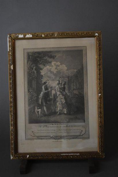 D'après François Robert INGOUF (1747-1812)  L'événement au Bal et La promenade du...