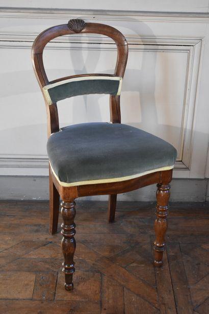 Chaise en bois naturel de style Restauration...