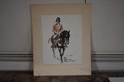 José Luis REY VILA (1910-1983)  Cavalier...