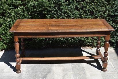 Table de ferme en bois naturel, XVIIIe siècle...