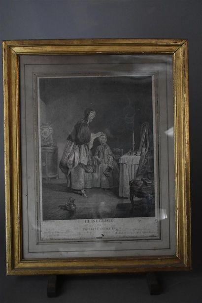 D'après Jean-Baptiste Siméon CHARDIN (1699-1779)  La gouvernante et Le négligé,...