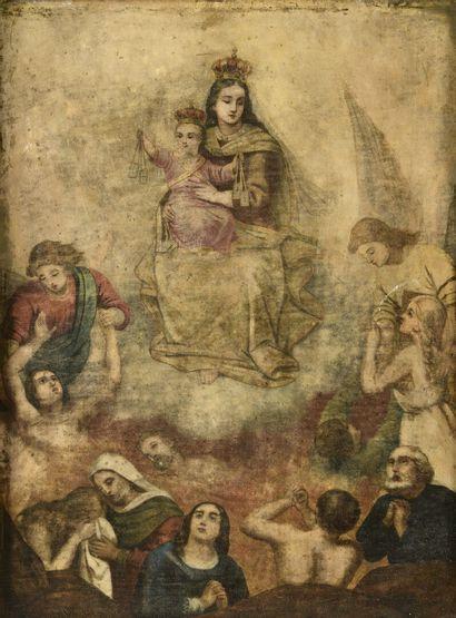 Notre Dame du Mont Carmel  La Vierge remettrant...