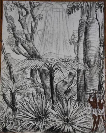 André MAIRE (1898-1984)  Malgaches et baobabs,...