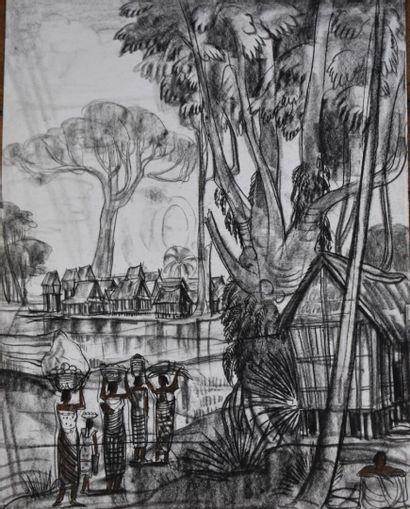 André MAIRE (1898-1984)  Malgaches rentrant...
