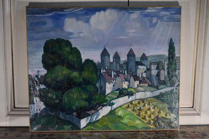 André MAIRE (1898-1984)  Vue de Semur-en-Auxois...