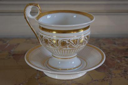 Déjeuner en porcelaine d'époque Charles X...