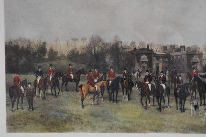 D'après Heywood HARDY (1842-1933)  A Lawn meet at Ake, 1890  Lithographie  52 x...
